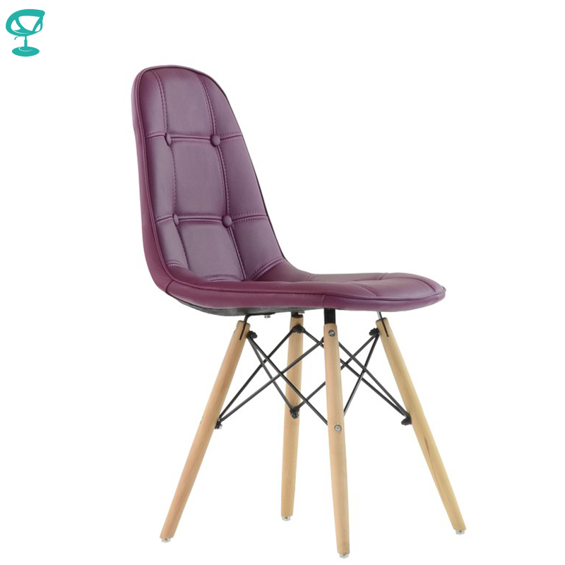 95629 Barneo N-43 Eco-Skin Wood Kitchen Breakfast Interior Stool Bar Chair Kitchen Furniture Purple Free Shipping In Russia