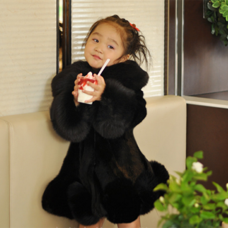 Chic Baby Kids Girls Faux Fur Furry Warm Jacket Parka Trench Coat Multi-Color 1X city 2018 women winter trench coat with sash faux fur coat maxi length novelty fashion slim trench coat female trench coat 541