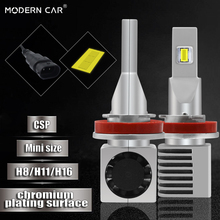 Modern Car H11/H8/H9 12v 24v Led Headlamp Bulb Mini Size 60W 9000LM Super Bright White CSP H11 H8 LED Headlight Auto Lights