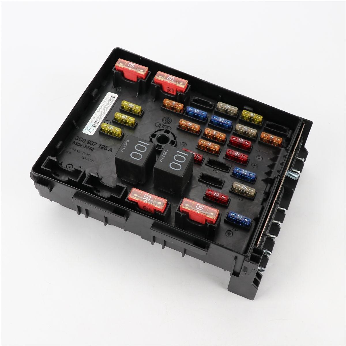 OEM Main Relay Fuse Box for VW Passat B6 Tiguan CC AUDI Q3 SEAT Alhambra 3C0 937 125 A climatronic air condition control switch panel ac seat heater for passat b7 cc 35d 907 044 b c d 35d907044b c d