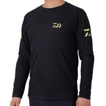 Daiwa для походов спорта рыбалки Костюмы, футболка по самой низкой цене для рыбалки, с длинным рукавом футболки Кемпинг альпинизма; сезон лето
