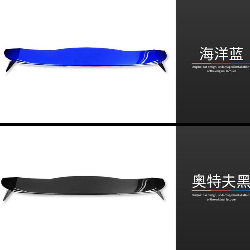 For Honda fit/jazz Spoiler High Quality ABS Material Car Rear Wing Primer Color Rear Spoiler For Honda Fit B Spoiler 2014-2016 paint abs car rear wing trunk lip spoiler for 16 17 honda civic 2016 2017 fastby ems rs style 8colors