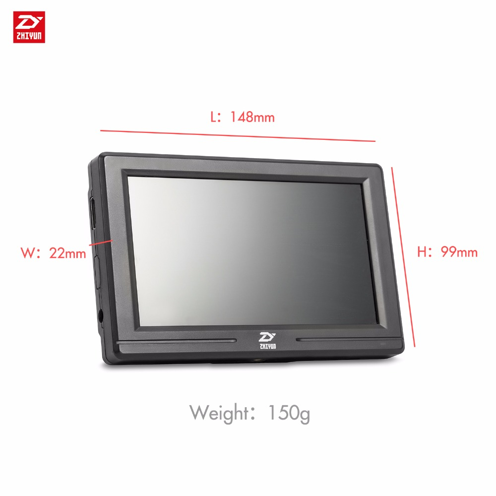 Zhiyun Official 5.5 Mini camera Monitor with HDMI Input Output IPS HD 1920x1080 LCD monitoring for Gimbal Stabilizer