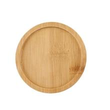 Set of Universal Round Shaped Bamboo Tray