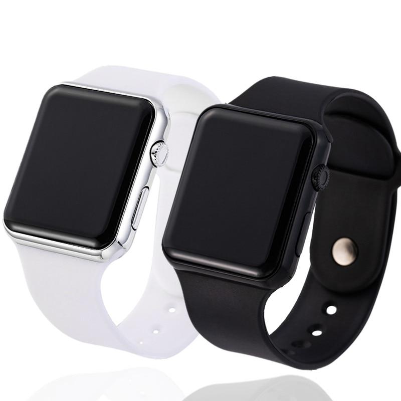 2PCS Sport Digital Watch Men Women LED Watch Silicone Electronic Watch Couple Watches Clock Relogio Digital Montre Homme