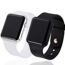 2PCS Sport Digital Watch Men Women LED Watch Silicone Electr