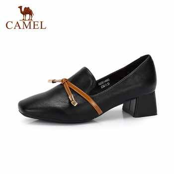 CAMEL Women Spring New Elegant Single Shoes For Ladies Shallow Fashion Square Toe Pumps Mature Casual Soft Leather Dress Shoes - SALE ITEM Shoes