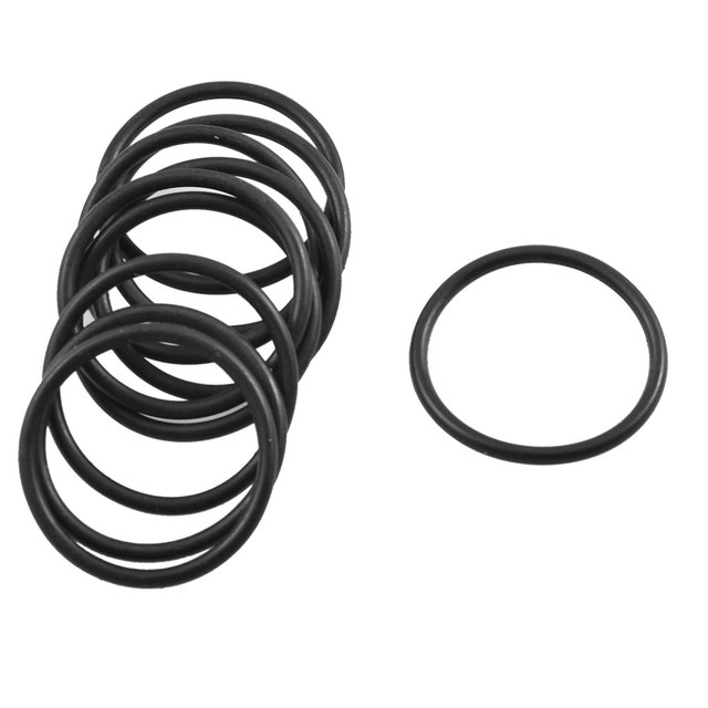 Uxcell 10 Pcs 1.8Mm Black Rubber Flexible Oil Seal Gasket O Rings Id ...