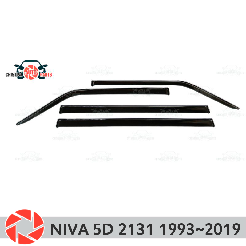 Window deflector for Lada Niva 4x4 2131 1993~2019 rain deflector dirt protection car styling decoration accessories коврик багажника для vaz lada niva 2131 2016