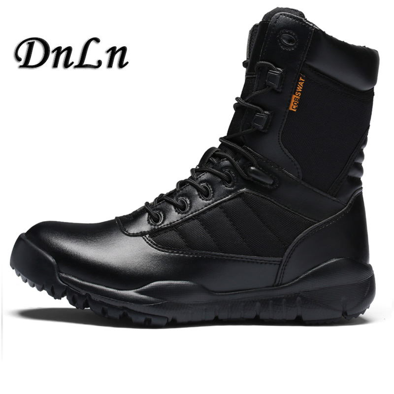 Male Shoes Men Calfskin Leather High Top Outdoor Sport Desert Hunting Hiking Climbing Sneakers Men Army Shoes Tactical Boot D50 new outdoor men hiking shoes breathable high top sport climbing shoes men sneakers ankle boots hunting hiking shoes men 3r38