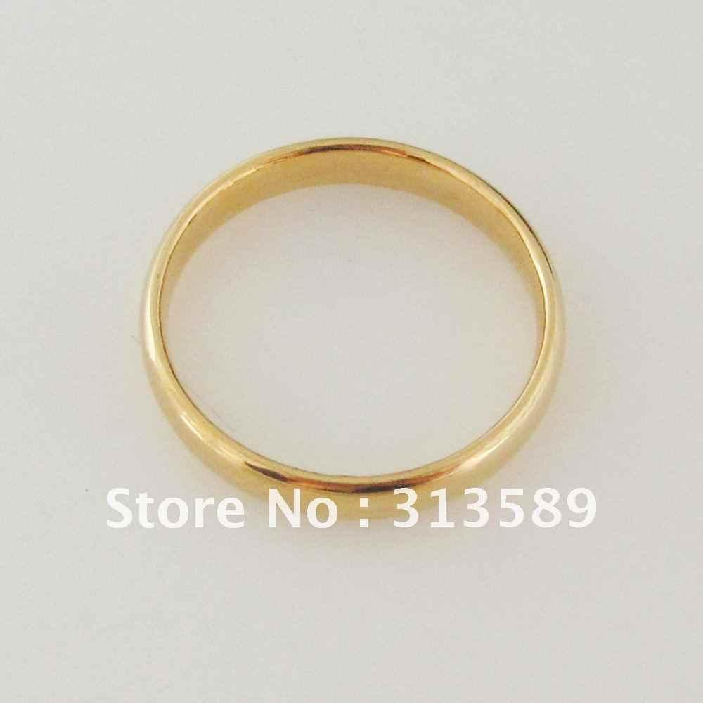 Foromance/-обручальное кольцо из желтого золота GP простой 3 мм размер по выбору/отличный подарок/