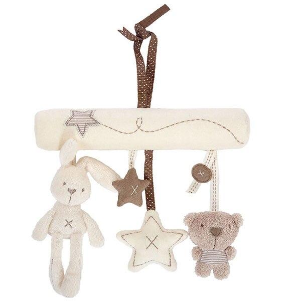 Baby Kids Hanging Bed Stroller Rattle Soft Plush Rabbit Beer Musical Toys Bedding Sets