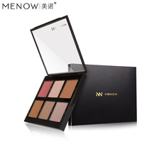 MENOW Brand 6 Color Makeup Cheek Blush Palette Blush In Facial Powder Long Lasting Natural Facial