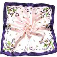 Silk Scarf Satin Square Printed For Women Brand Sc ...