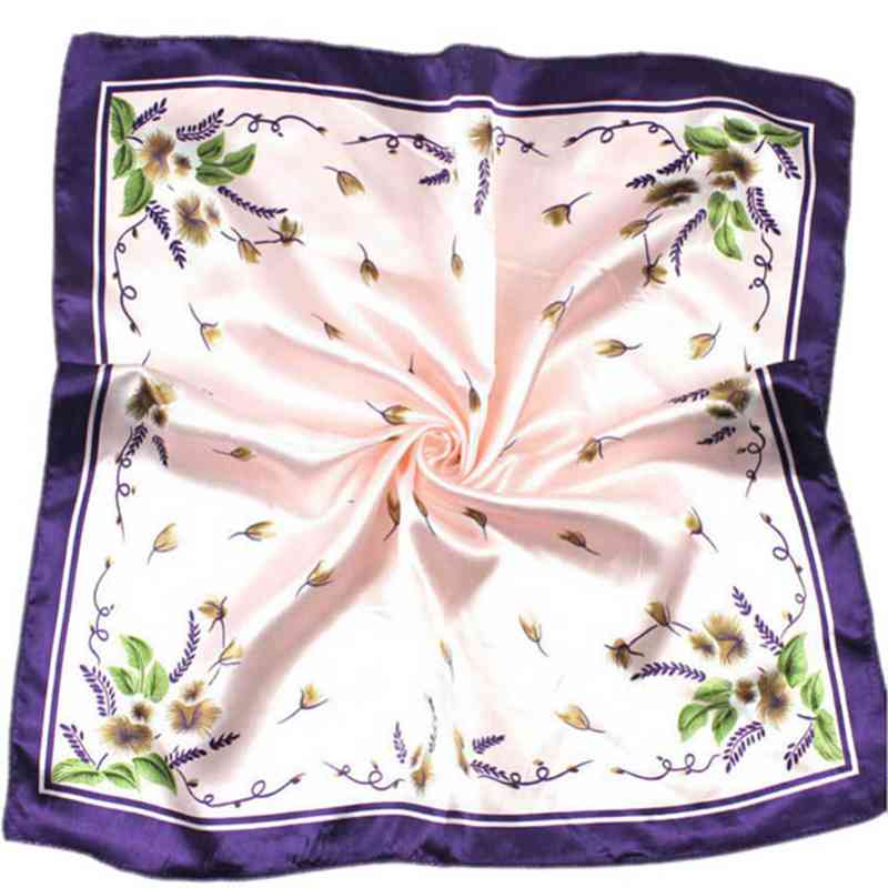 Silk Scarf Satin Square Printed For Women Brand Scarves Bandana Necker Chief Office Lady Gift #ED ...
