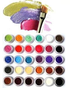 Image 4 - 10ML kosmetyczne Pigment perłowy proszki bezpieczne w użyciu do szminki, makijażu, cieni do powiek, mydła 54 kolory proszek perłowy pigmenty do zdobienia paznokci