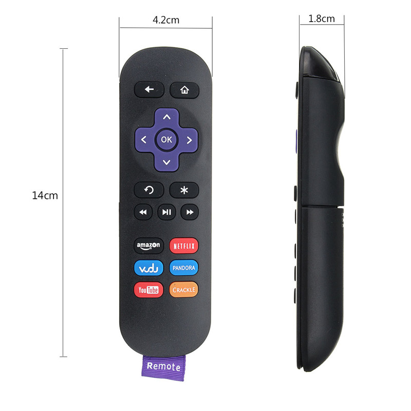 KINCO Multi-Functional Universal 18 Keys Remote Controller Replacement for ROKU TV LCD DVD CBL VCR Brand NEW Wireless