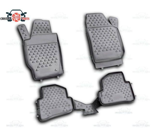 Tapetes para Skoda Fabia 2007 ~ 2015 tapetes antiderrapante poliuretano proteção sujeira interior car styling acessórios