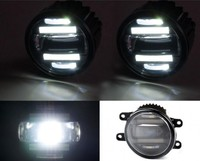 JanDeNing Car Refit Super bright 2 in 1 functions LED lens fog lamp + daylight lamp for LEXUS CT200H/LX570