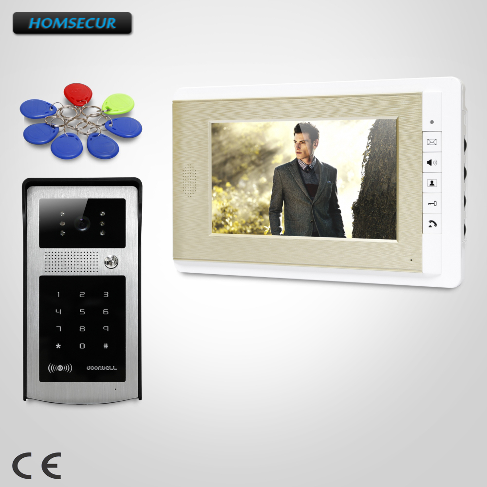 HOMSECUR 7inch Hands-free Video Door Entry Security Intercom with Keyfobs Password Keypad  XC004-S+XM708-GHOMSECUR 7inch Hands-free Video Door Entry Security Intercom with Keyfobs Password Keypad  XC004-S+XM708-G
