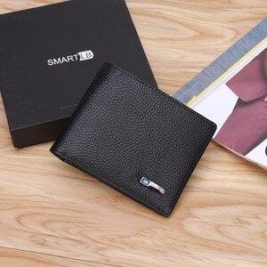Image 2 - Modoker portefeuille Intelligent pour hommes, en cuir véritable, porte monnaie Intelligent avec Bluetooth, bonne qualité, Anti perte, porte cartes, costume pour Business