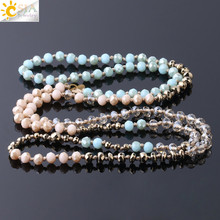 CSJA 2019 Spring Women Jewelry Faceted Glass Crystal Beads 9