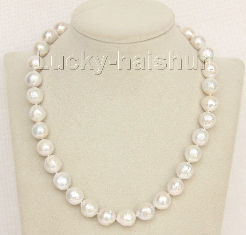 18 13mm near round white Reborn keshi pearls necklace filled gold  >>>girls choker necklace pendant Free shipping18 13mm near round white Reborn keshi pearls necklace filled gold  >>>girls choker necklace pendant Free shipping