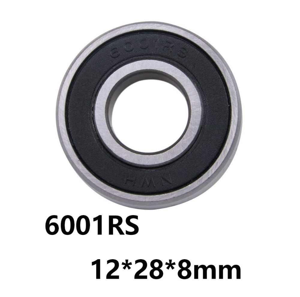 1 cái/lốc 6001RS Con Dấu Cover Sâu Rãnh Bóng Nhỏ Nhỏ Vòng Bi 6001RS 6001-RS 12*28*8mm 12*28*8 52100 Thép Chrome