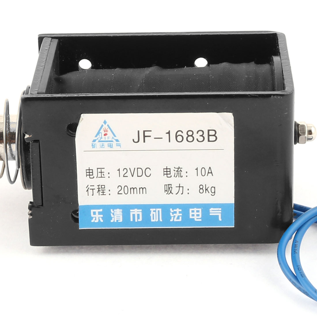 UXCELL DC 12V 10A Pull Push Type Opening Frame Solenoid Electromagnet With 16cm/6.3 Cable 8KG Suction JF-1683B UXCELL DC 12V 10A Pull Push Type Opening Frame Solenoid Electromagnet With 16cm/6.3 Cable 8KG Suction JF-1683B