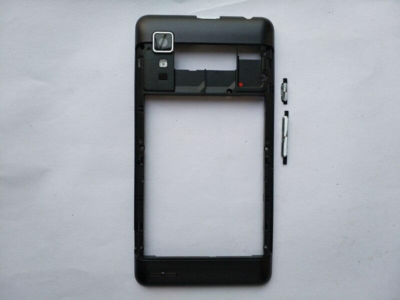 100% Nouveau Cadre Moyen Logement Cas Pour Lenovo P780 Avec Camera Lens + Puissance Volume Boutons