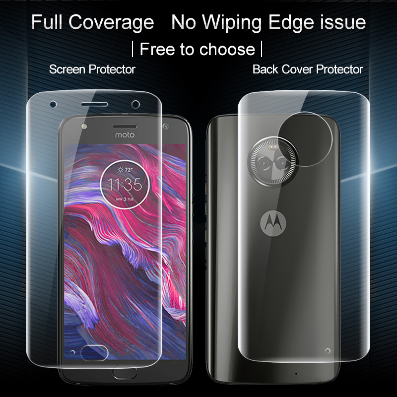 innovative design 9026e 2a06e US $8.35 |IMAK Hydrogel Film For motorola moto x4 Screen Protector Full  Coverage Front Back Soft HD Clear Film For MotoX4 Film Not Glass-in Phone  ...