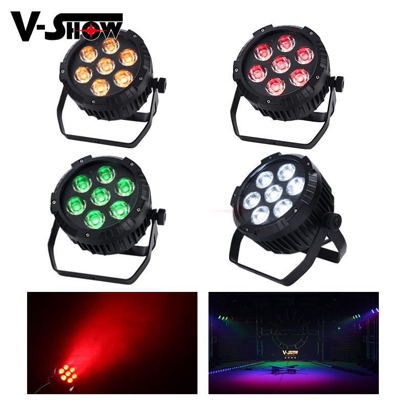 4pcs 7x25W RGBWA COB Outdoor Led Par Light Waterproof Stage Light Dmx 512 Dj Light For