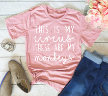 This is My Circus These Are My Monkeys T-shirt ,Mom Shirt women slogan fashion cool style grunge tumblr tops cotton summer tees