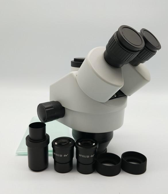 Best CE SZM745 7X 45X Simul Focal Trinocular Zoom Stereo Microscope Head WF10X 20 Microscope Accessories