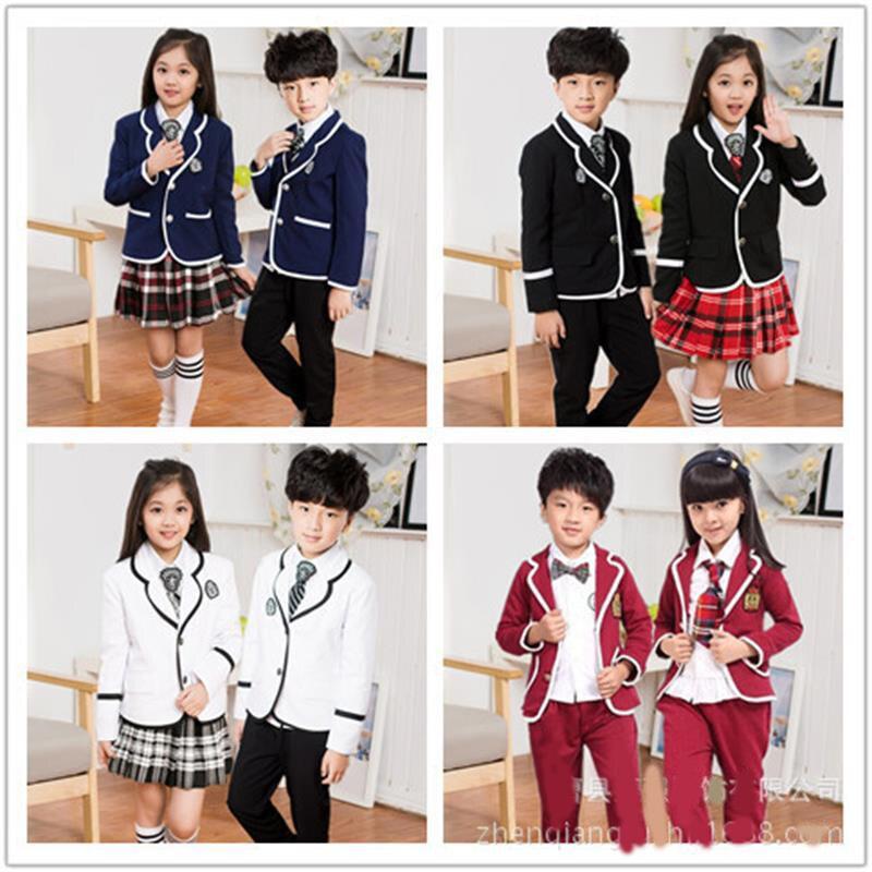 2017 nouvelle mode garçon/fille costume chœur costumes de danse performance vêtements pépinière uniformes scolaires Collège Ensemble Un 530