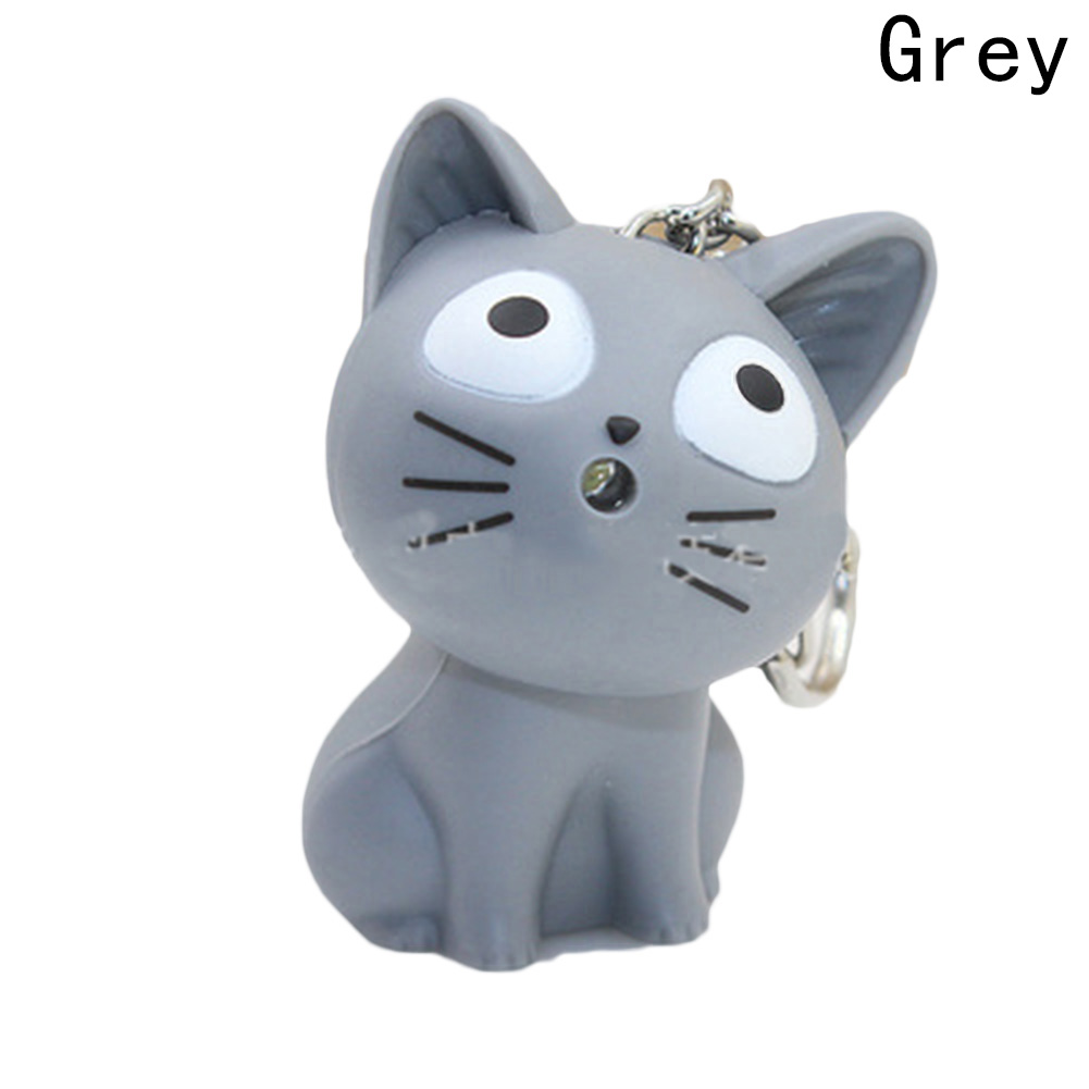 New Cute Cat Keychain With Meow Sound,Kawaii Led Keyring ,Children Gift,ValentineS Day Gifts,Bag Pandent Hot Sale Can Dropship