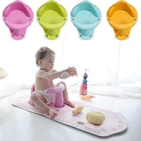 Nonslip Baby Infant Kids Toddler Bath Seat Ring Safety Comfort Chair Mat Pad Tub Toys Gifts Baby Toddler Bath Shower Supplies