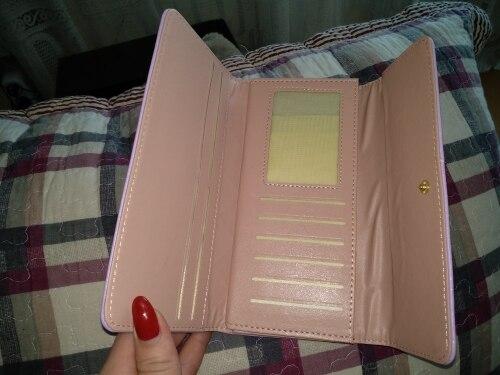 fondhere Women Wallet Fashion Metal Crown Long Clutch Wallet Female PU Leather Female Purse High Quality Ladies Wallet photo review