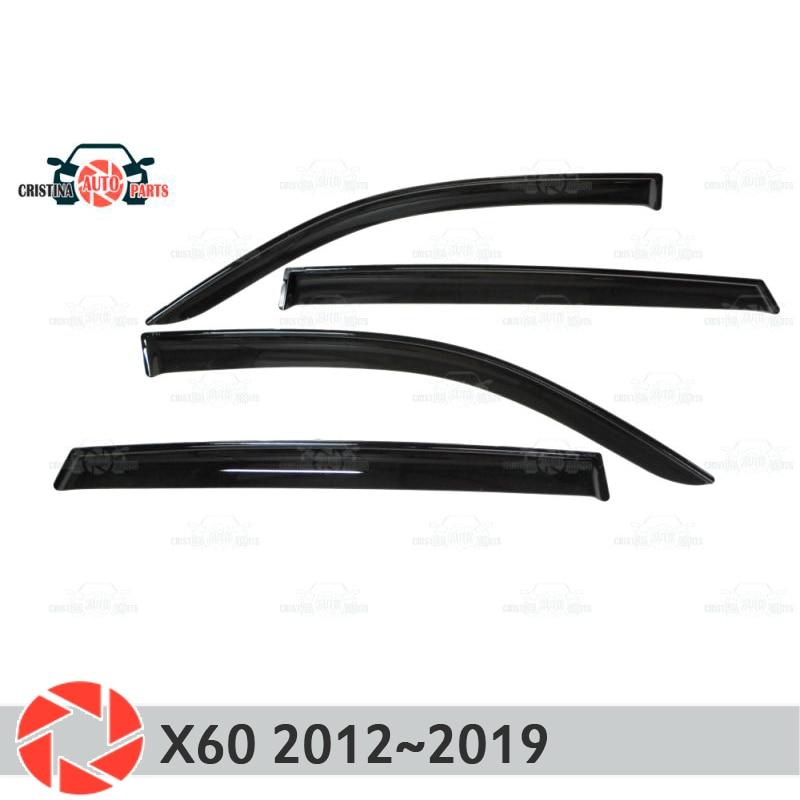 Window deflector for Lifan X60 2012~2019 rain deflector dirt protection car styling decoration accessories molding кисти подхваты крючки держатели rain window decoration