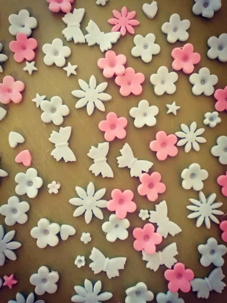 33pcs/set Plastic Flower Fondant Cake Decorating Tools Sugarcraft Plunger Cutter Baking Cookies Mold