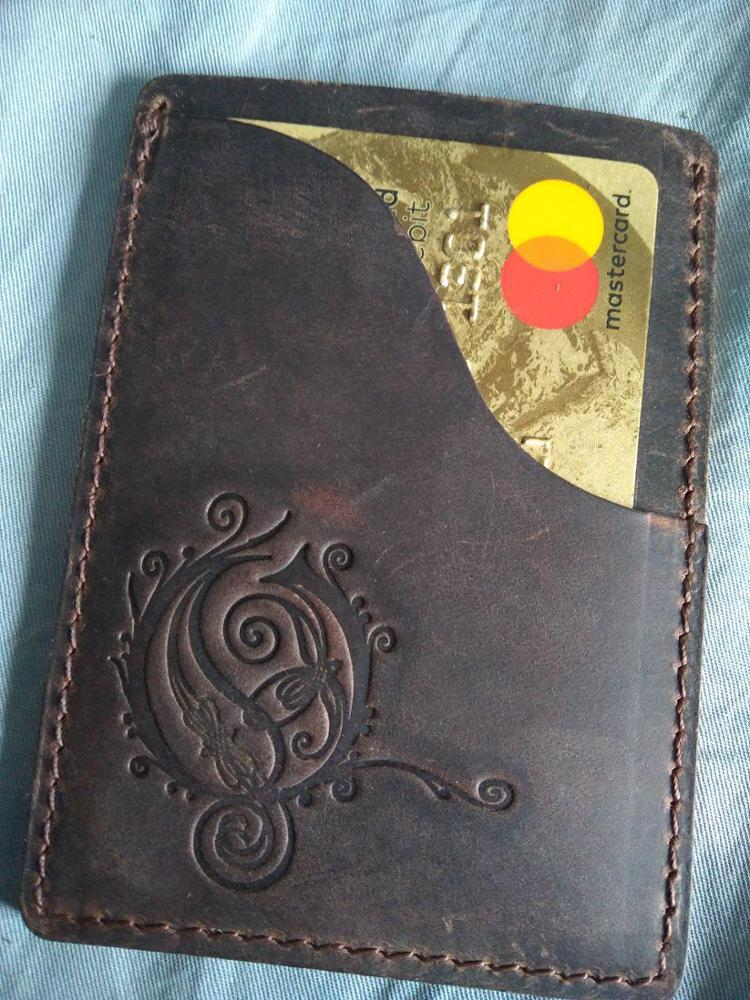 Moterm Genuine Cow Leather Business ID Card Holder Crazy Horse Leather Travel Credit Wallet Men Purse Case photo review