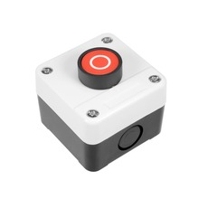 цена на UXCELL Push Button Switch Station Momentary NC Red 400V 10A/6A To Control The Electromagnetic Starter Contactor Accessories