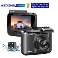 """AZDOME GS63H 4K 2160P Dash Cam intégré WiFi GPS voiture tableau de bord caméra enregistreur 2.4 """"LCD, WDR, Vision nocturne, caméra arrière de soutien"""