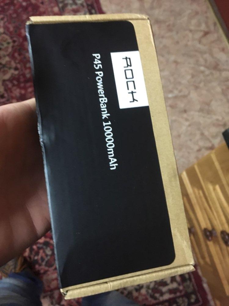 ROCK Slim Power Bank 10000 mAh Portable Charging Ultra thin Powerbank external battery backup pack for iPhone poverbank 10000mah