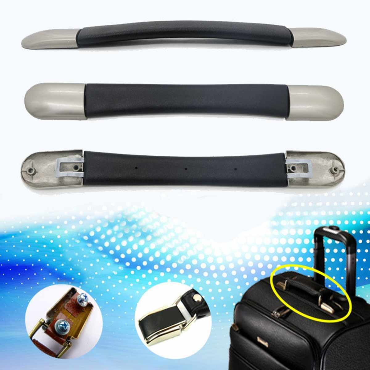 c8f81b716f1 16cm Replacement Spare Strap for Suitcase Luggage Handle Grip Spare Fix  Holders Box Pull Carry Strap