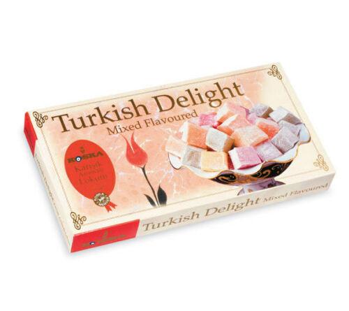 Koska Turkish Delight Mixed Flavoured 500 Gr , Gluten Free Lokum