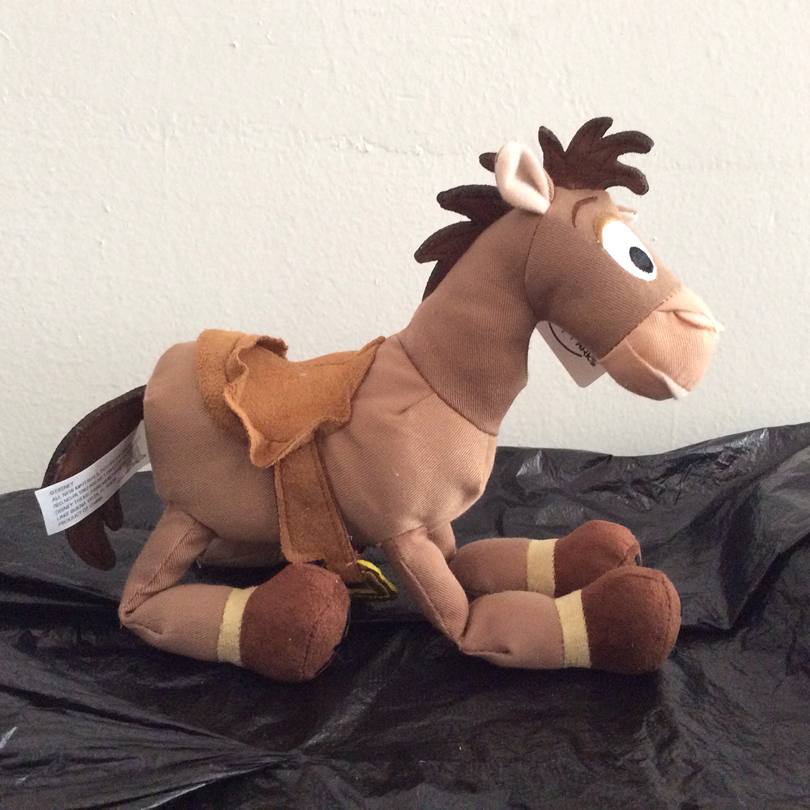 Free Shipping 23cm 9'' Original Toy Story Plush Bullseye The Horse Figure Soft Kids Doll For Children's Gift