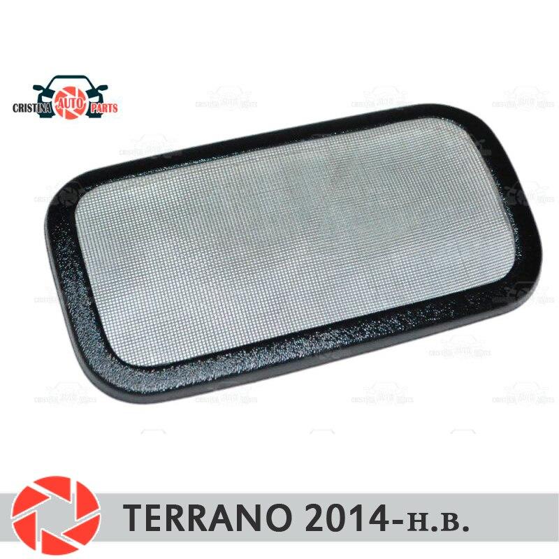 Malha filtro sob jabot para Nissan Terrano 2014-2018 plástico ABS proteção decoração em relevo acessórios de estilo de carro