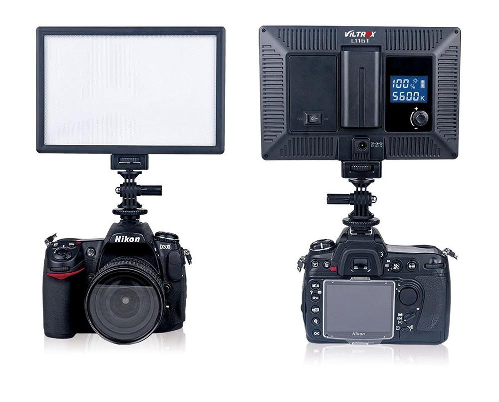 VILTROX L116T LED Camera Video Photo Light CRI95 Super Slim Studio Panel LCD Display Screen Photography
