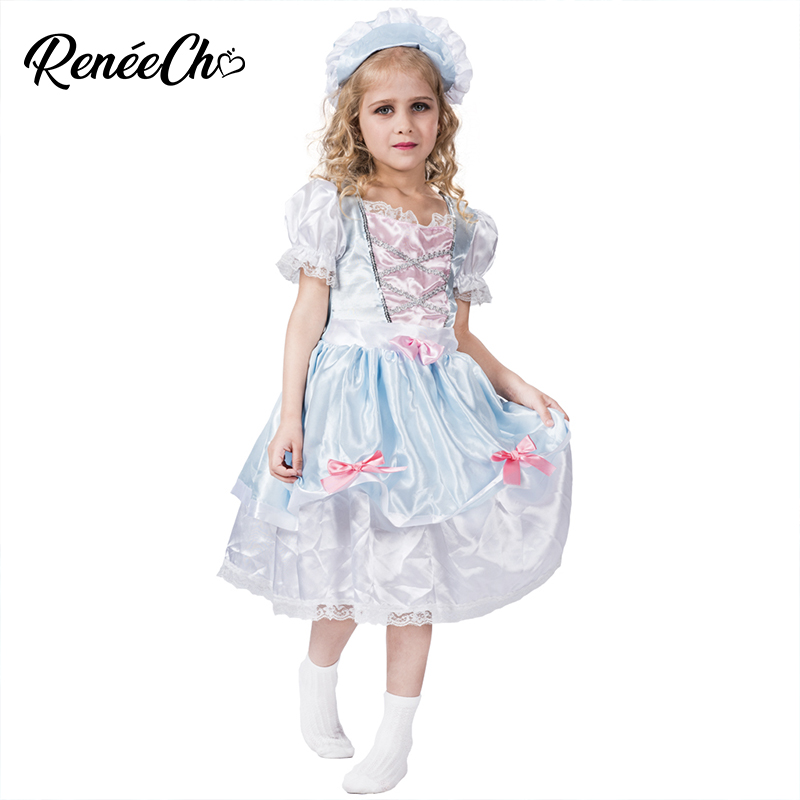 #Little Shepherd Blue Dress /& Hat Bo Peep Girl/'s Costume Fancy Dress